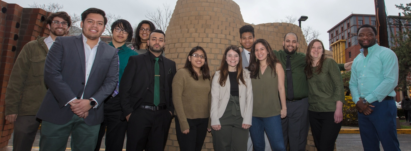 "April 2018 – Architecture Students Design and Build Their Vision of a ""Temple of Freedom"" at the Masonry Design/Build Competition at NJIT CoAD"